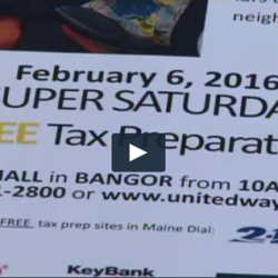Super Saturday Free Tax Prep Event in Bangor Clip