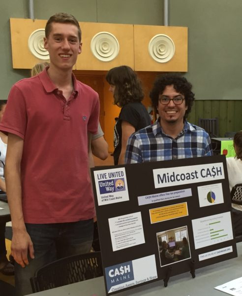 Alex & Ali at Bowdoin volunteer fair